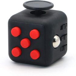 Fidget Cube för bättre koncentration Svart/Röd
