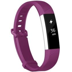 Fitbit Alta/HR armband i silikon - sportmodell (S) - mörkröd Purple