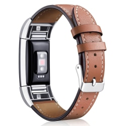 Fitbit Charge 2 armband läder Brun