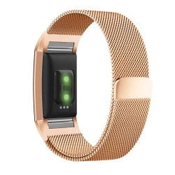 Fitbit Charge 2 armband Milanesisk Loop Roséguld (S) Guld