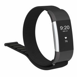 Fitbit Charge 2 armband nylon Svart
