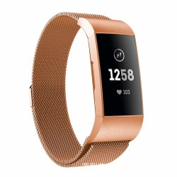 Fitbit Charge 3/4 armband Milanesisk loop Roséguld (S)