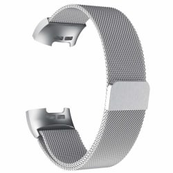 Fitbit Charge 3/4 armband Milanesisk loop Silver (L)