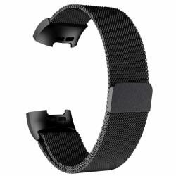 Fitbit Charge 3/4 armband Milanesisk loop Svart (L)