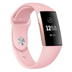 Fitbit Charge 3/4 armband silikon Rosa (S)