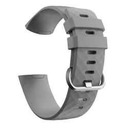 Fitbit Charge 3/4 armband silikon - grå/silver - Small Grey S