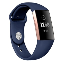 Fitbit Charge 3/4 armband silikon - mörkblå - S Blue S