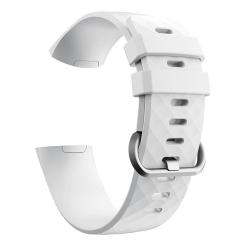 Fitbit Charge 3/4 armband silikon Vit/Silver (S) Vit