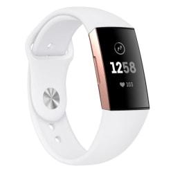 Fitbit Charge 3/4 armband silikon Vit (S) Vit
