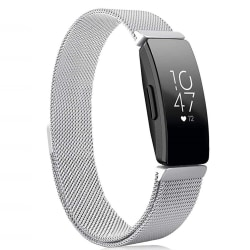 Fitbit Inspire/Inspire HR armband Milanesisk loop Silver (S) Silver