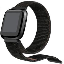Fitbit Versa armband nylon Svart