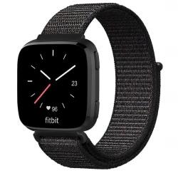 Fitbit Versa/Versa Lite armband nylon Svart