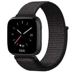 Fitbit Versa/Versa Lite armband nylon Svart Svart