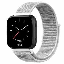 Fitbit Versa / Versa Lite armband nylon - vit/grå Grey