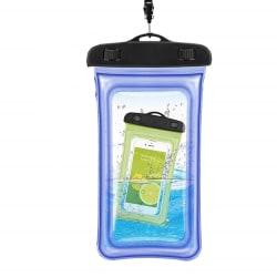 Flytande vattentät mobilväska - universal - blå