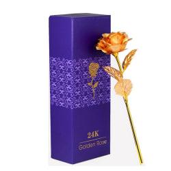 Guldros 24k - guldpläterad ros