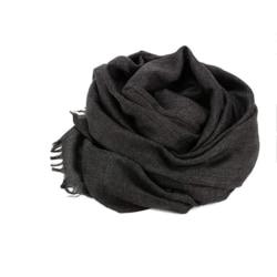 Halsduk 180x100 cm bomull/linne Mörkgrå Mörkgrå one size