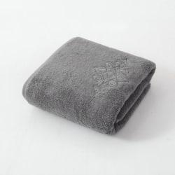Handduk med broderi 100% bomull 75x35 cm - grå Grå