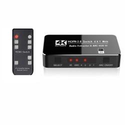 HDMI 2.0 Switch med 4 ingångar 4x1 - 3D/4K