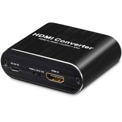 HDMI Audio Extractor - video / ljuddelare - 3D / 4K Svart