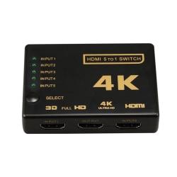 HDMI Switch 5x1 - 4K2K / 3D med fjärr