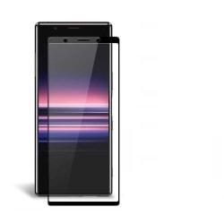 Heltäckande skärmskydd härdat glas Sony Xperia 5 svart Transparent