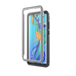 Huawei P30 extra stöttåligt skal med skärmskydd Svart