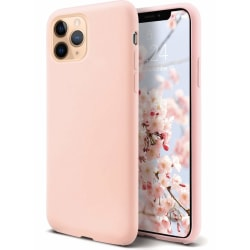 iPhone 11 Pro Liquid Silicone skal Ljusrosa