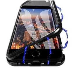iPhone 7/8 skal dubbelsidigt härdat glas Svart