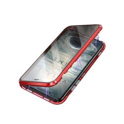 iPhone XR skal dubbelsidigt härdat glas Röd