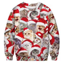 Jultröja med katter - XXL