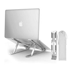 Justerbart laptopställ med multivinkel - Silver