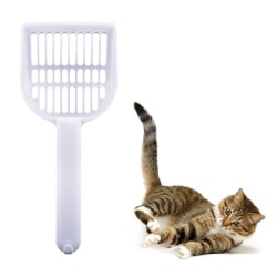 Kattspade / skopa för kattsand Vit