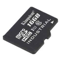 Kingston 16GB microSDHC UHS-I Industrial Temp Card Single P w/o  Svart