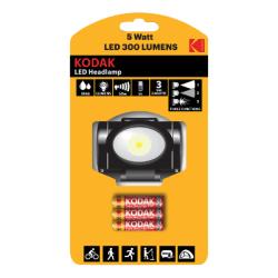 KODAK LED Headlamp 300lm incl.3xAAA