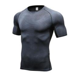 Kortärmad träningströja/t-shirt för män (L) Svart