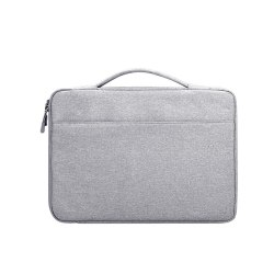 Laptopfodral 14.1 tum canvas - ljusgrå