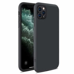 Liquid Silicone skal iPhone 11 Pro - svart Svart