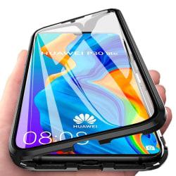 Magnetiskt skal för Huawei P30 Lite med skärmskydd - svart Svart