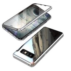 Magnetiskt skal för Samsung Galaxy S10 med skärmskydd - silver Silver