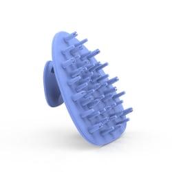 Massageborste för hårbotten silikon Blå