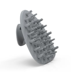 Massageborste i silikon för hårbotten - Grå