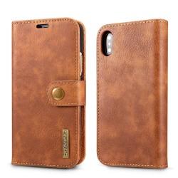 Mobilfodral iPhone X / XS med magnetskal PU-läder - brun Brun