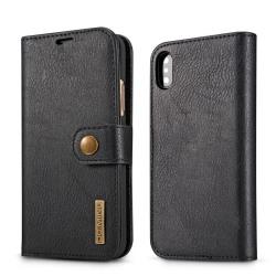 Mobilfodral iPhone XR med magnetskal PU-läder - svart Svart