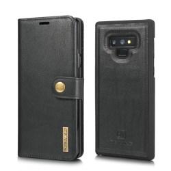 Mobilfodral Samsung Galaxy Note 9 med magnetskal PU-läder - svar Svart