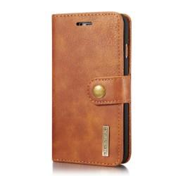 Mobilfodral till iPhone 7/8 - mobilplånbok i PU-läder - brun