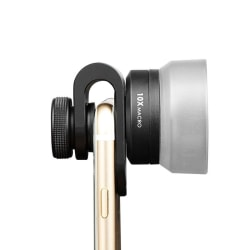 Mobilobjektiv makro 10x 25mm Svart