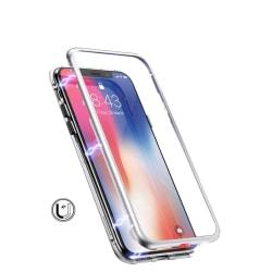 Mobilskal med härdat glas - iPhone XS Max - Silver