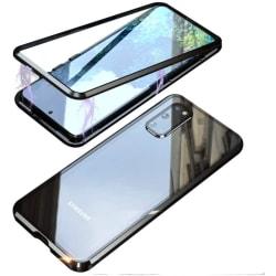 Mobilskydd dubbelsidigt härdat glas - Samsung S20 - Svart Silver