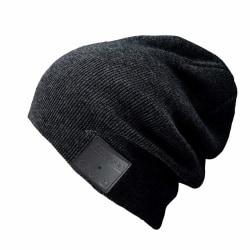 Mössa med Bluetooth hörlurar och mikrofon - svart
